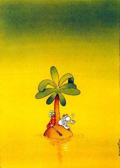 Irancartoon Web Gallery :: The Exhibition of Cartoon / Mordillo / Argentina :: Cartoon Puzzle, The Castaway, Web Gallery, Humor Grafico, Beautiful Mind, Graphic, Walt Disney, Folk Art, Doodles