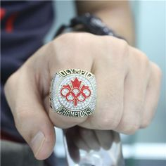 Custom 2014 Canada Olympic Hocket Team Championship Ring