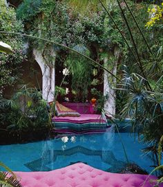 What I loved about Balinese gardens, is that I could have my own individual sitting area and feel like I'm sitting on water.