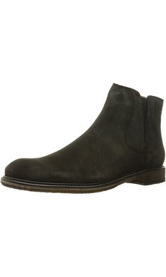 John Varvatos Men's Sid Crepe Chelsea Boot, Charcoal, 12 UK/UK SIZING M US Best Price