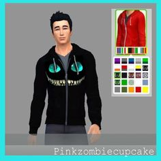 Pinkzombiecupcake: Cheshire cat zip hoodie - Sims 4 Downloads