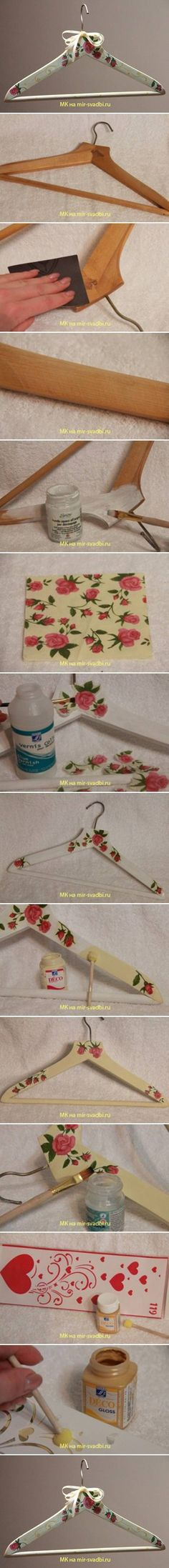 DIY Hanger Decoupage