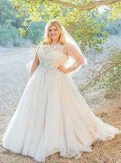 Sophisticated Princess Curvy Bride in Blush available at Della Curva Plus SIze Bridal Salon Wedding Gowns Tarzana, CA