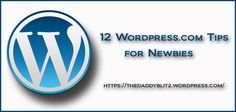 The following are a few tips for Wordpress.com newbies that I had to find by trial and error: