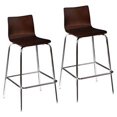 blence barstools set of 2 espresso modern bar stools and counter stools houzz
