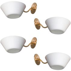 Four Italian Sconces | From a unique collection of antique and modern wall lights and sconces at http://www.1stdibs.com/furniture/lighting/sconces-wall-lights/