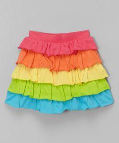 Rainbow Tiered Skirt - Infant, Toddler & Girls by CR Kids #zulily #zulilyfinds