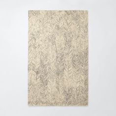 Vines Wool Rug - Neutral | West Elm 5x8 = $299 4x6 = $549