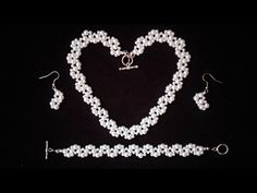 DIY Elegant Jewelry Set for any special occasion. Beginners beading tutorial - YouTube