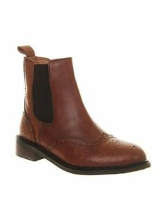Office Baron brogue chelsea boots Tan - House of Fraser