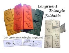 Triangle congruency foldable