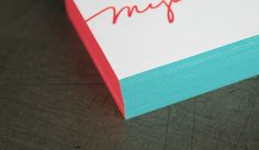 GEE-ZUZ! Two-Toned Edgecoloring on these business cards by Studio on Fire!