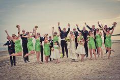 The Glenmar Studio - Long Island #wedding #bride #groom #ido #bridayparty #maidofhonor #bridesmaid #bestman #groomsmen #dresses #beachwedding #flowergirls #sunglasses #bouquets #tuxedos #white #green #jewelry #flowers