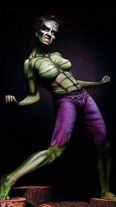 body paint marvel hulk