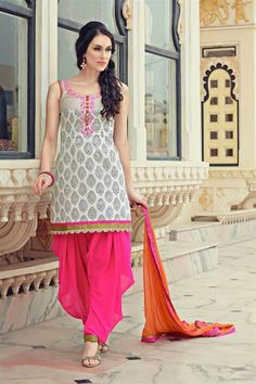 Punjabi suit w/ patiala salwar... Maybe something for the bridesmaids to wear..different colour??