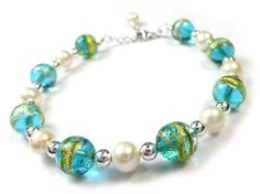 Murano Glass Bracelet - Sea Breeze