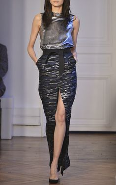 Long Skirt With Belt by Martin Grant, Fall-Winter 2015 (=)