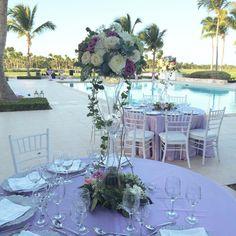Tall wedding centerpieces.
