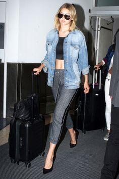 Steal Gigi Hadid's Elevated Athleisure Airport Look | Le Fashion | Bloglovin'