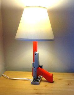 NES Nintendo Zapper lamp desk light sculpture. $77.77, via Etsy.