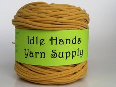Yellow T Shirt Yarn  485 Yards by IdleHandsYarnSupply on Etsy, $8.28
