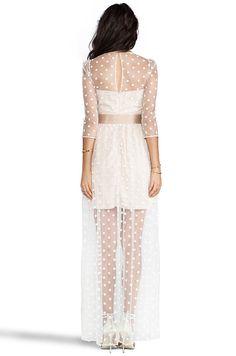 Alice by Temperley Celia Long Dress in Ivory