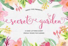 Secret Garden Script by Sweet Type on Creative Market