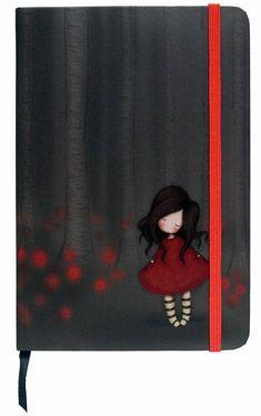 Santoro - Gorjuss : Poppy Wood Hardcover Notebook
