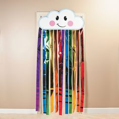 Rainbow Cloud Door Curtain - OrientalTrading.com gramma B. says we have to have this