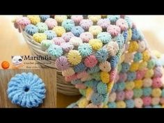 How to crochet circle afghan blanket free easy pattern tutorial for begginer 2017, My Crafts and DIY