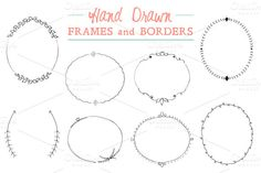 Illustrations ~ Hand Drawn Frames and Borders ~ Buy it now on Creative Market!