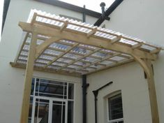 pergola with corrugated roof - maybe this but free standing?