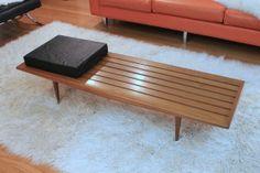 60's Danish Modern Wooden Slat Bench Mid Century in Gravois, MO, USA ~ Krrb