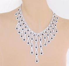 Swarovski Crystal Necklaces Product | Swarovski crystal and jet rhinestone necklace
