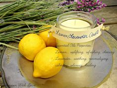 Homespun With Love: Make Your Own Lemon Lavender Aromatherapy Candle