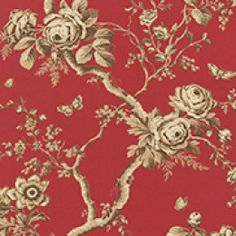 Ralph Lauren behang, Ashfield floral balmoral red
