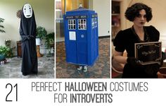 21 Perfect Halloween Costumes For Introverts (The Silent Film Star and No-Face are my favorites!)
