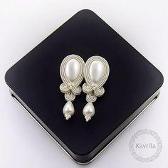 Photo from kavrila Macrame Earrings Tutorial, Earring Tutorial, Diy Earrings, Leather Earrings, Fashion Earrings, Earrings Handmade, Jewelry Art, Wedding Jewelry, Beaded Jewelry