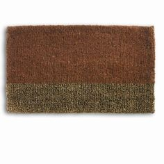 Tag 240019 Two Tone Rust Welcome Doormat by TAG Trade Associates Group. Save 21 Off!. $37.90. Durable materials. High quality fade resisting inks. Beautiful designs. Made from the natural renewable coir fiber. Use in protected area away from long term sun and rain exposure for best wear. Tag Coir mats are made from a natural, renewable fiber by skilled crafts people in small villages alone the SW coast of India using traditional processes. After gathering the hardy fibers an...