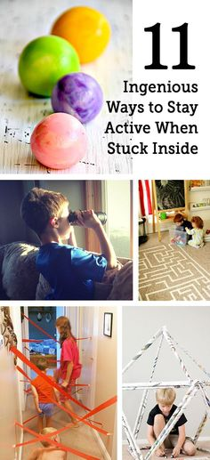 Rainy day play ideas for when kids are stuck insides.