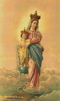 our lady of victory image - Bing Images Blessed Mother Mary, Divine Mother, Blessed Virgin Mary, Pictures Of Mary, Jesus Pictures, Catholic Art, Catholic Saints, Roman Catholic, Catholic Blogs