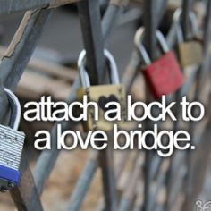 Before I die...I think that's the cutest thing...