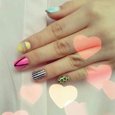 Perfect for summer ♥ #nails #nailart #colourful