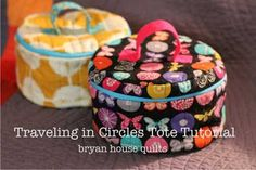 This cute circular tote is the perfect little bag to organize all your sewing supplies.