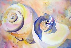 Contemporary paintings of seashells, sailboats, beaches in Cape Cod, Hawaii, Bali, the French Riveria, California, Florida & more by artist, Liana Yarckin.