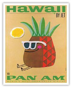 Vintage PanAm Poster