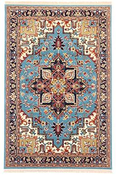 TAPIS PERSAN CLASSIQUE GHASHQAI DESIGN HERIZ ROUGE 150X100 CM 4.9X3.3 FT TRADITIONNEL TAPIS ORIENTAL: Amazon.fr: Cuisine & Maison