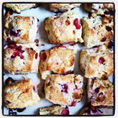 Raspberry & White Chocolate Chunk Scones