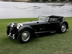 1931 Daimler Double Six 50 Sport Corsica Drophead Coupe . Another great black car :)