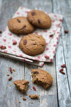 Cookies sans oeuf sans beurre et sans gluten aux baies de goji